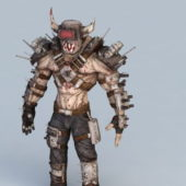 Steampunk Humanoid Monster Character