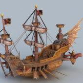 Steampunk Transport Skyship