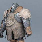 Steampunk Warrior Game Character