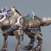 Steampunk Wolf Rigged Game Character