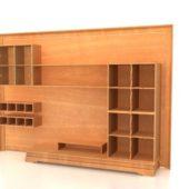 Storage Wooden Wall Unit