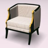 Furniture Striped Armchair