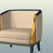 Striped Upholstered Chair Furniture