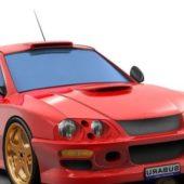 Red Subaru Brz Concept Car