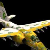 Military Sukhoi Su-25 Aircraft
