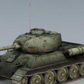 Military T-34-85 Russian Tank