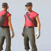 Tf2 Scout Man Character Rigged
