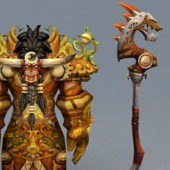 Game Character Tauren Druid Art