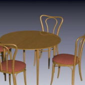 Wooden Tea Table Chairs