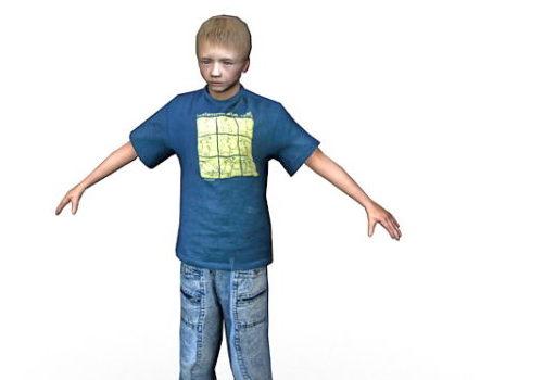 Teenage Boy Character