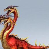 Three Headed Legend Dragon
