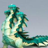 Three Headed Hydra Animal Character