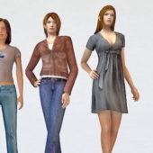 Character Three Trendy Woman