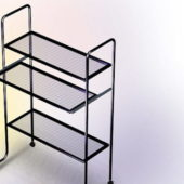 Furniture Three-tier Rolling File Cart
