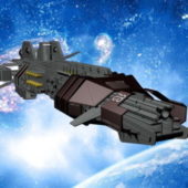 Sci-fi Thunder Spaceship