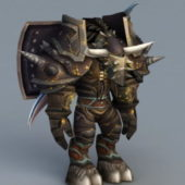 Tauren Warrior Game Character