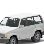 White Toyota Land Cruiser Car