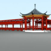 Chinese Pavilion With Corridor System