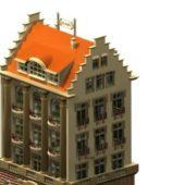 Ancient German Hotel Building