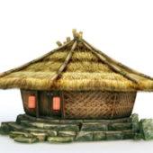 Mongolian Traditional Grass Hut
