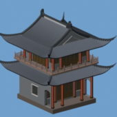 Korean Traditional Architecture Building