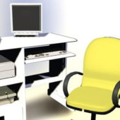 Traditional Furniture Computer Desk Chair