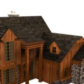 Ancient Wooden Townhouse