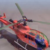 Orange Color Traffic Helicopter