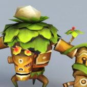 Treant Cartoon Monster Character