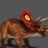 Triceratops Dinosaur Rigged