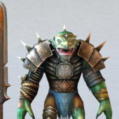 Character Troll Warrior And Swords