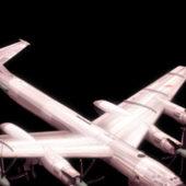 Military Tupolev Tu-95 Bear Strategic Bomber
