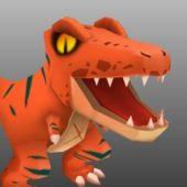 Tyrannosaurus Rex Cartoon Character