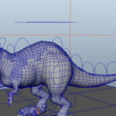 Tyrannosaurus Rex Animal Rigged