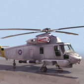 Us Military Sh-2f Seasprite Helicopter