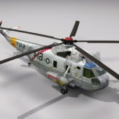 Military Navy Sh3 Helicopter