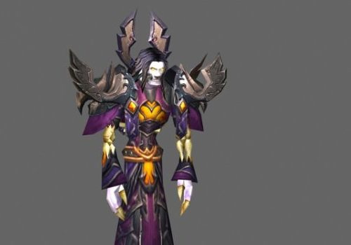 Undead Mage Game Character