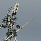 Skeleton Devil Warrior Character