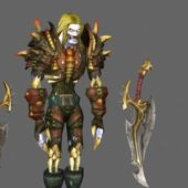 Undead Rogue Game Character