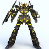 Robot Gundam Banshee Character