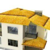 Yellow Roof Modern Villa Design