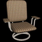 Outdoor Upholstered Swivel Chair