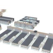 Urban Commercial Area Architecture