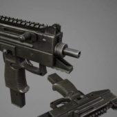 Weapon Uzi Pro Submachine Gun