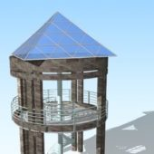 Glass Gazebo Wide View Platform