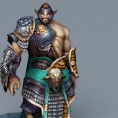 Viking Man Warrior Rigged
