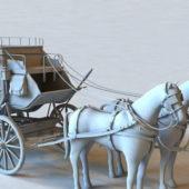 Vintage Western Horse Carriage
