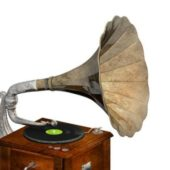 Electronic Vintage Phonograph