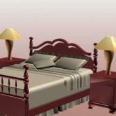 Vintage Woodcraft Bed Furniture Sets