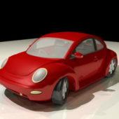 Cartoon Volkswagen Beetle Car